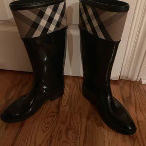 Burberry women's rain boots